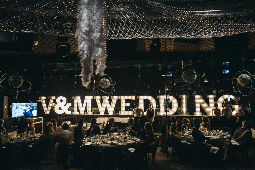 Светящиеся буквы Wedding