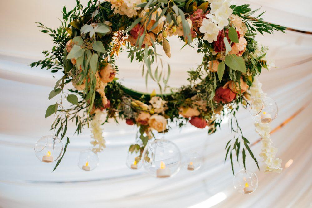 Подвесные флористические композиции