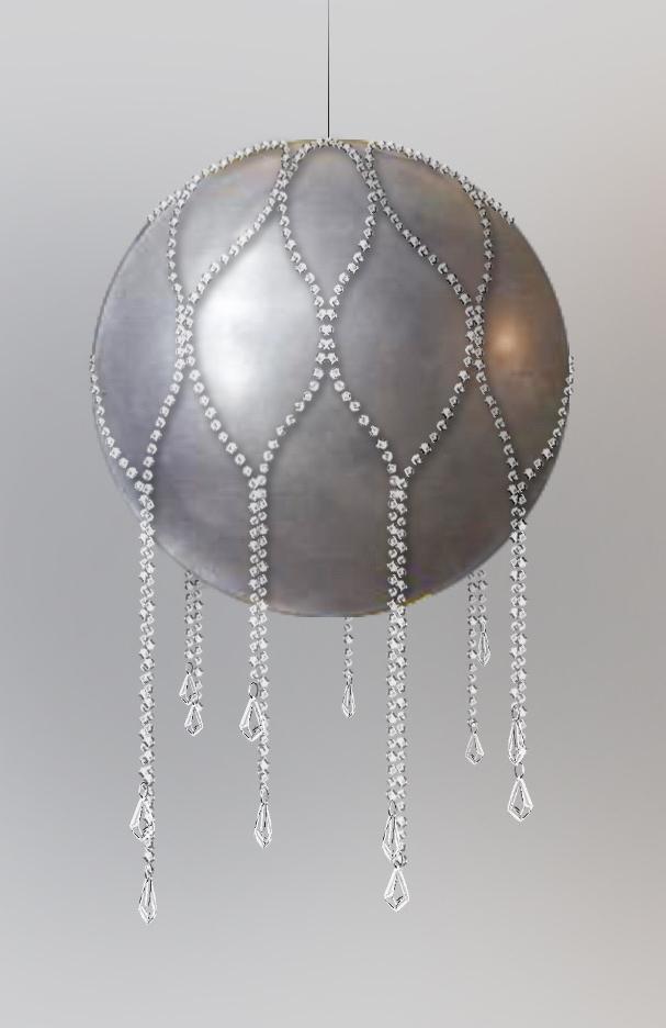 Эскиз шара с декоративными бусами