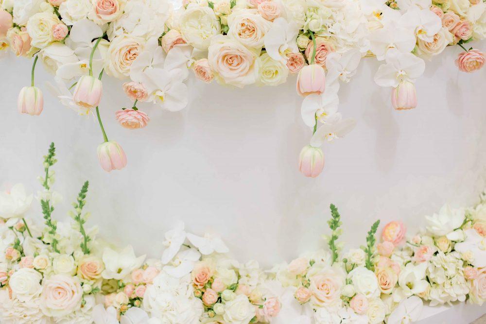 Пудровые цветы