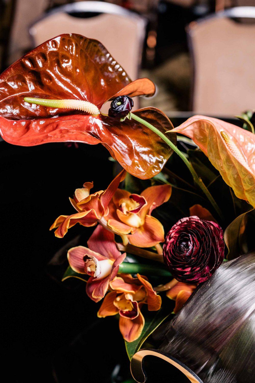 Оформление живой флористикой