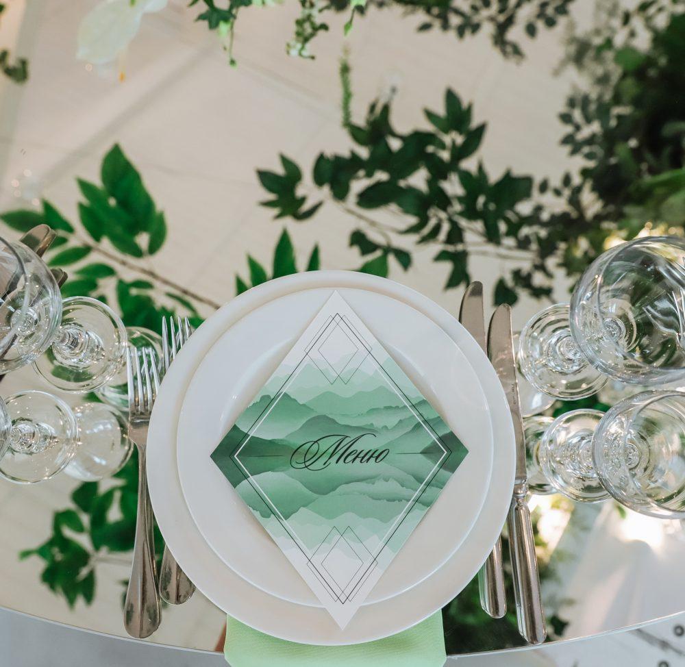 Свадебные меню дизайн