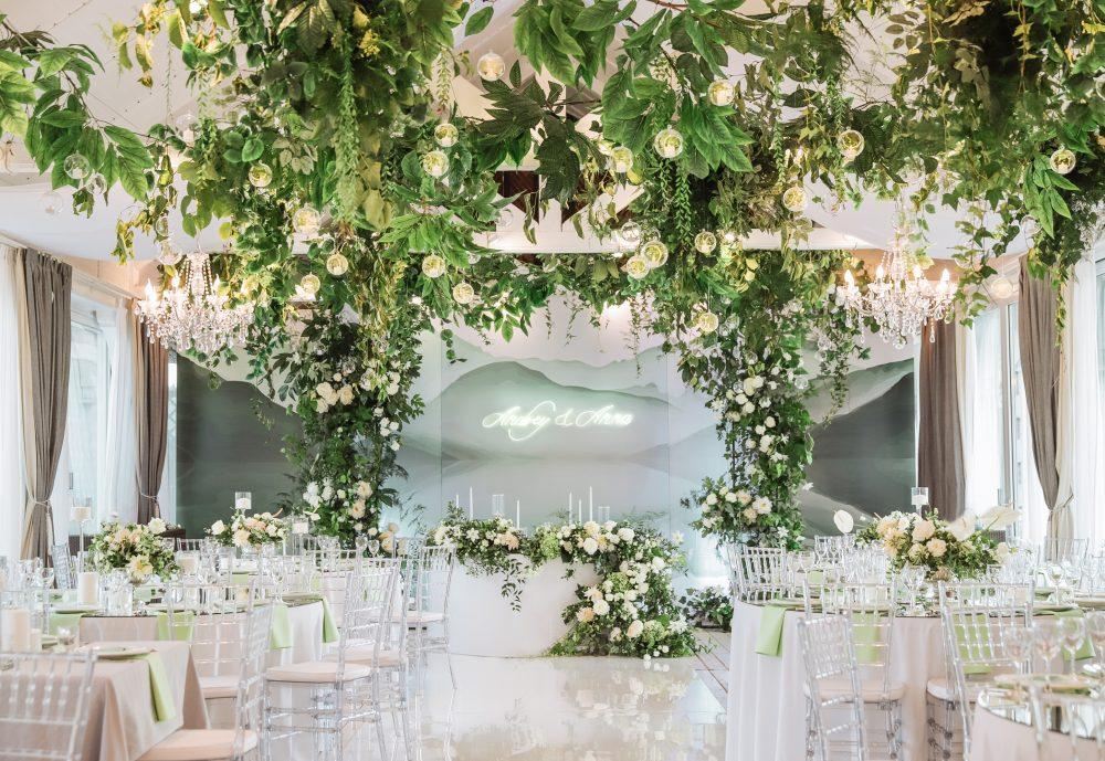 Оформление свадьбы зал