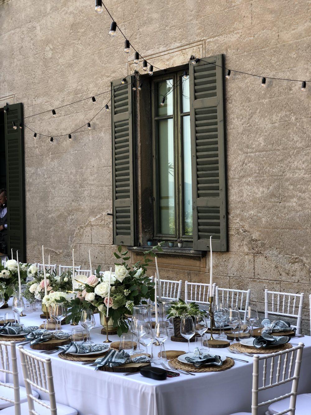 Декор свадьбы в Италии в августе