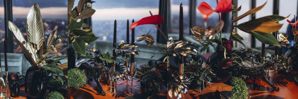 украшение живыми цветами красивые свечи для праздника