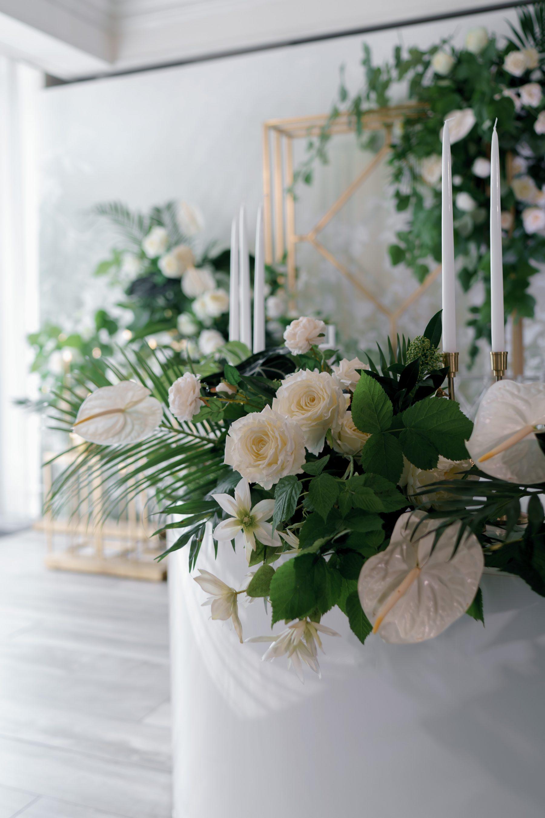 Живые цветы оформление свадьбы