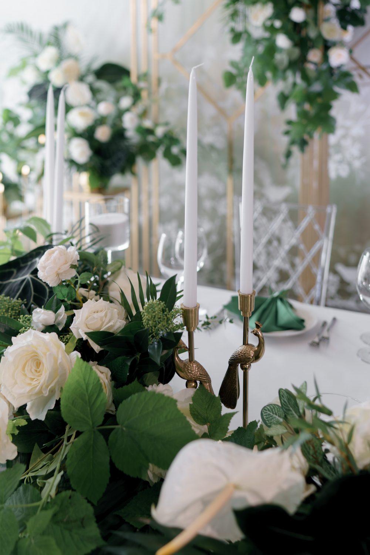 Тонкие свечи на свадьбу свадебная сервировка стола