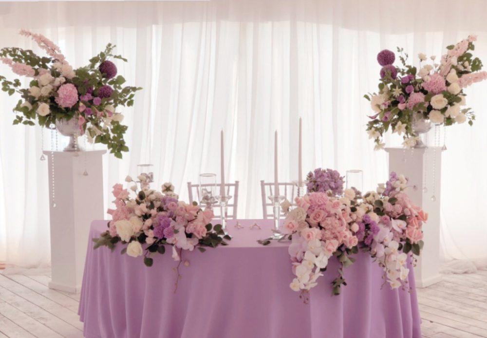 Живые цветы на свадьбу декор-агенство флористика