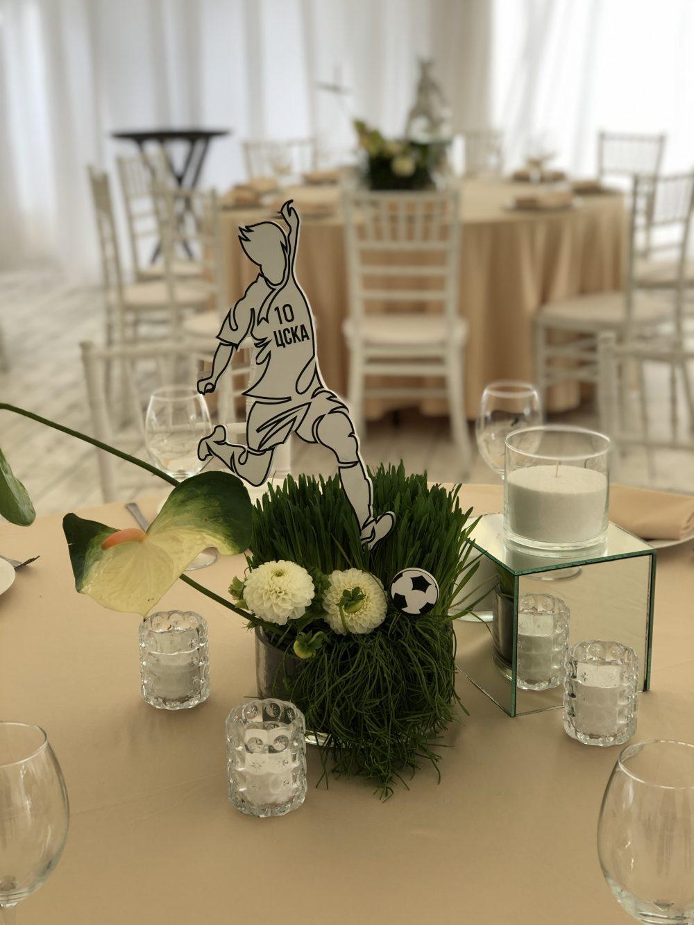 Флористика свечи на стол