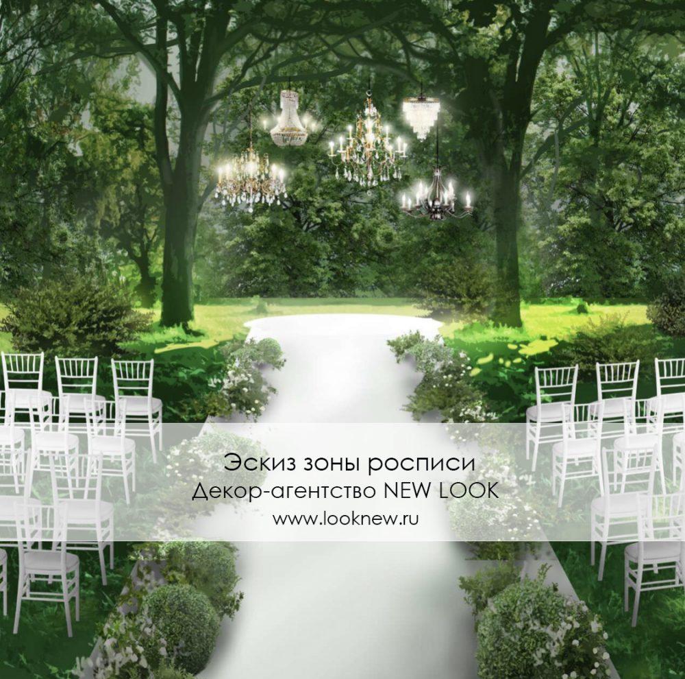 эскиз свадьбы на природе заказать