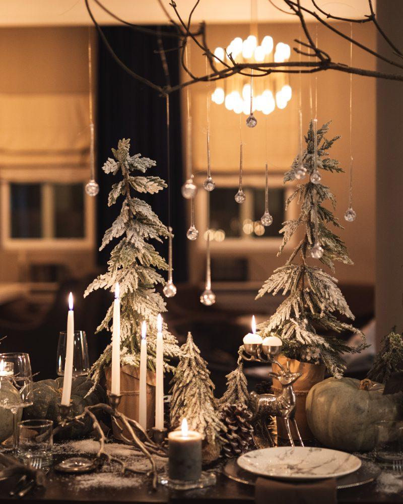 зимний новогодний декор день рождения ресторан